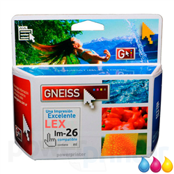 Cartucho de Tinta LEXMARK 26 (10N0026) color 10ml alternativo GNEISS