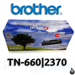 Cartucho de Töner Brother TN-660|2370 negro alternativo GLOBAL