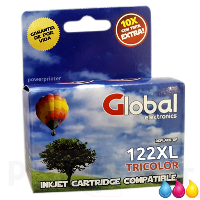 Cartucho de Tinta HP 122C XL (CH564HL) color alternativo GLOBAL