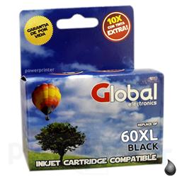 Cartucho de Tinta HP 60 BXL (CC641WL) negro alternativo GLOBAL