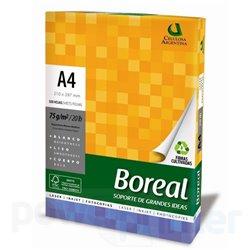Resma de Papel A4 75gr Boreal 500 hojas